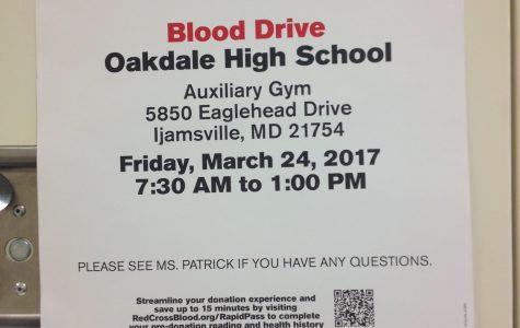 Oakdale NHS Hosts Blood Drive
