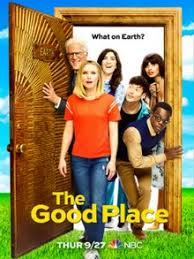 The cast of The Good Place in a promotional for season 3, from NBC