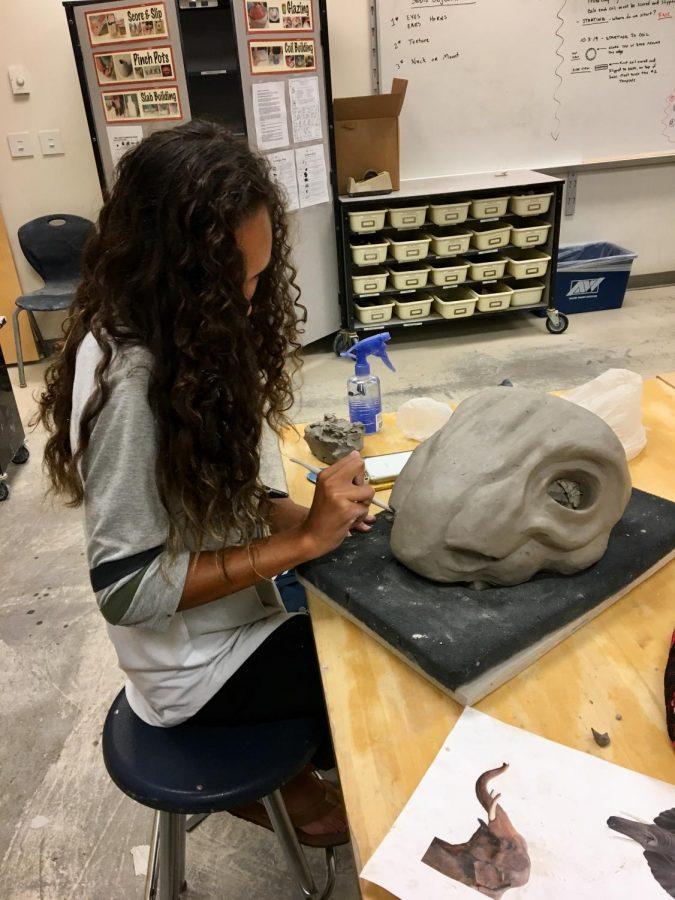 Karina+Turner+is+hard+at+work+in+ceramics+class%21+Looking+good%21
