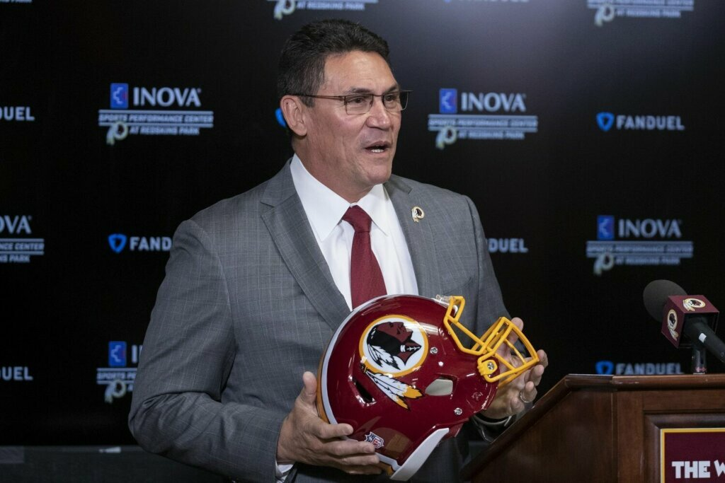 Ron Rivera in his first interview as a Redskin.
