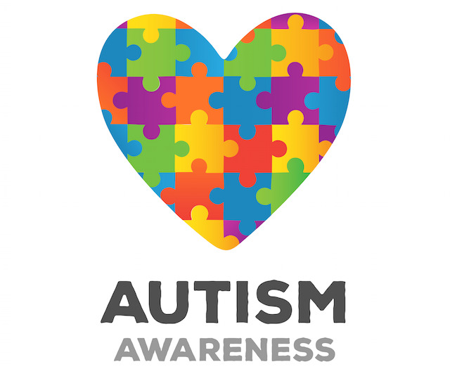 Digitally generated Autism awareness design vector
