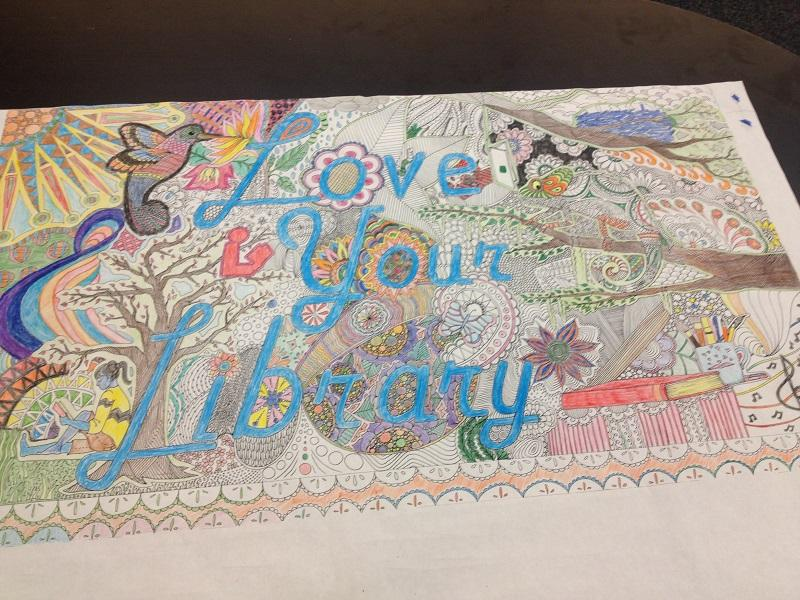 Among the new things added to the library are relaxation coloring pages.