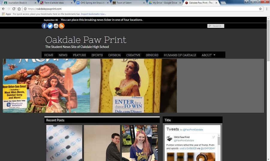 """Journalism and Broadcasting Combined! Oakdale's Newest Push into the Digital Age"""
