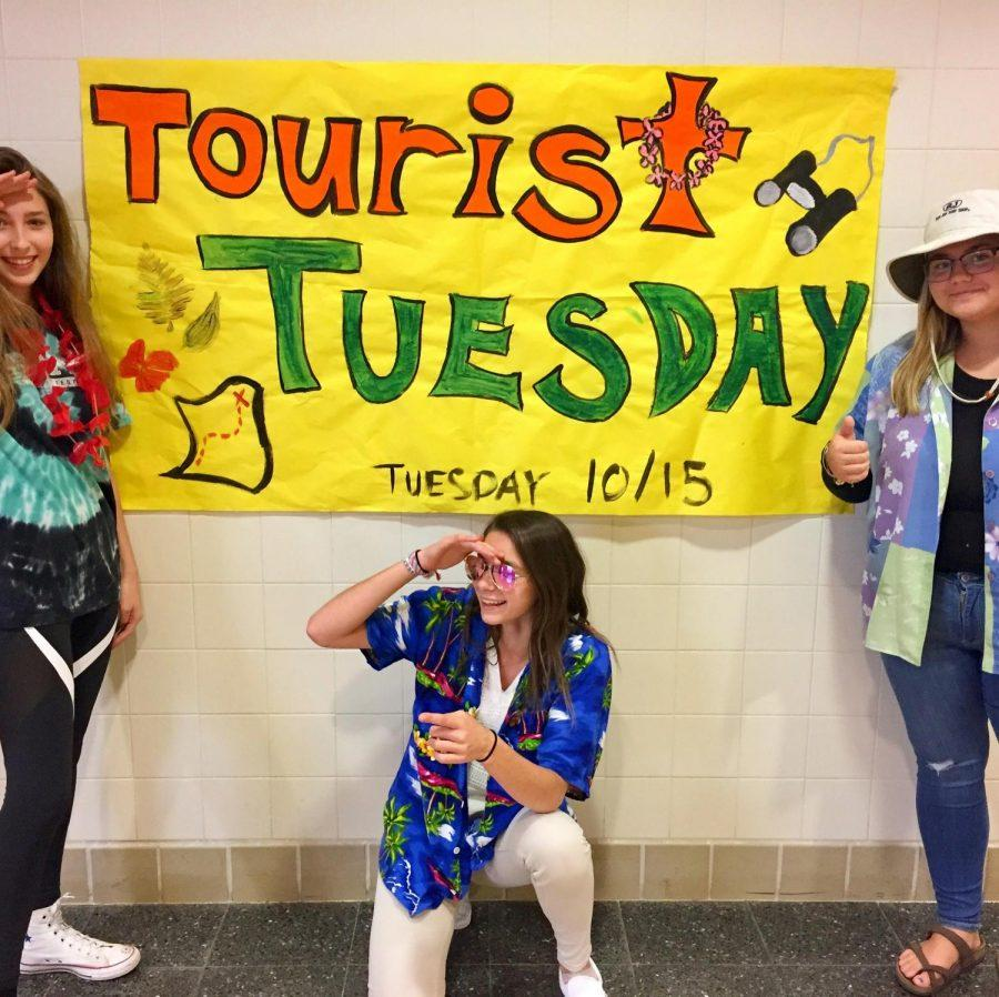 Students loved todays tourist Tuesday spirit day! Where will your education take you?