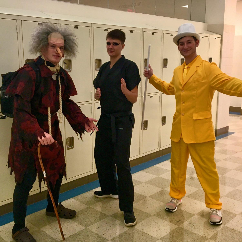 Seniors showed their school spirit by dressing up for Halloween.