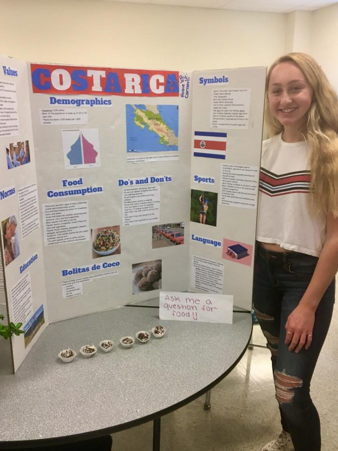 Students gave presentations today during lunch for the culture fair.