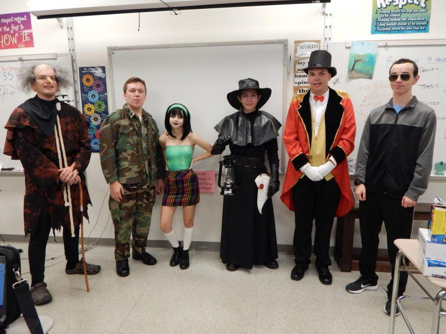 Seniors in Journalism all dressed originally in their respective Halloween costumes. Each costume displayed their unique interests and personalities.