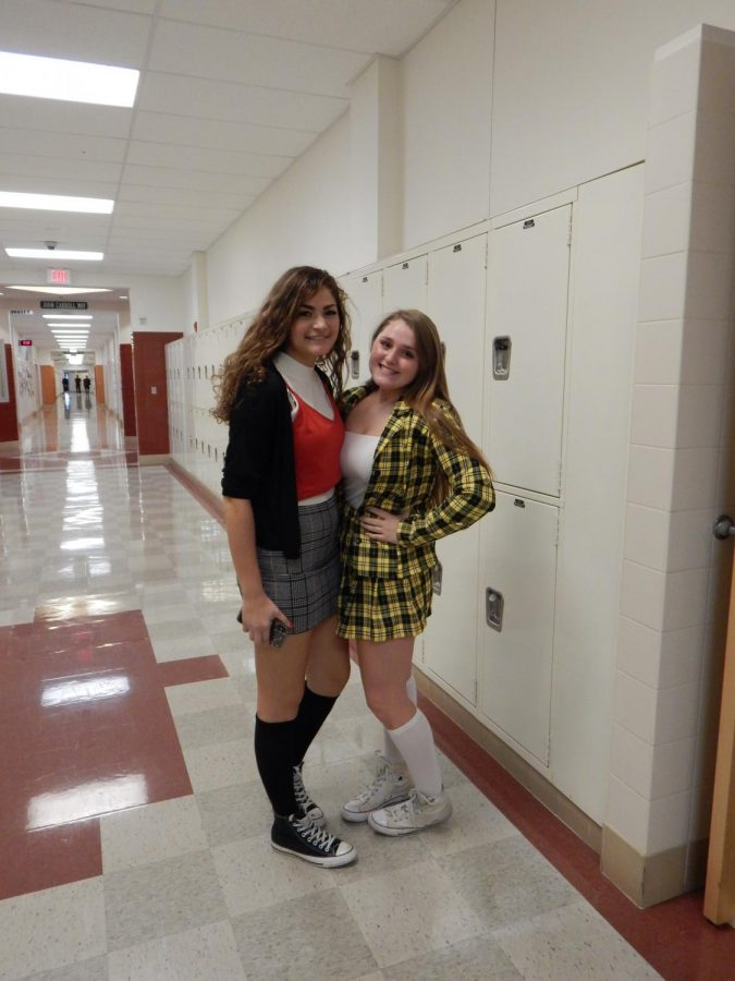 Ariana Williams and Sarah Lamarre threw back to the nineties by referencing the movie, Clueless. Lamarre went as Cher, the main character, and Williams as Dionne, the best friend.
