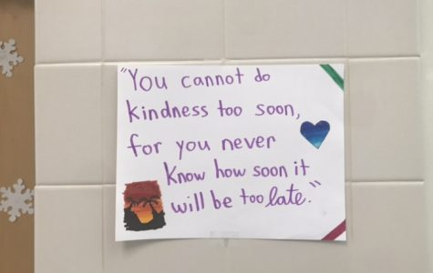 One of the quotes of kindness posters located around the school.