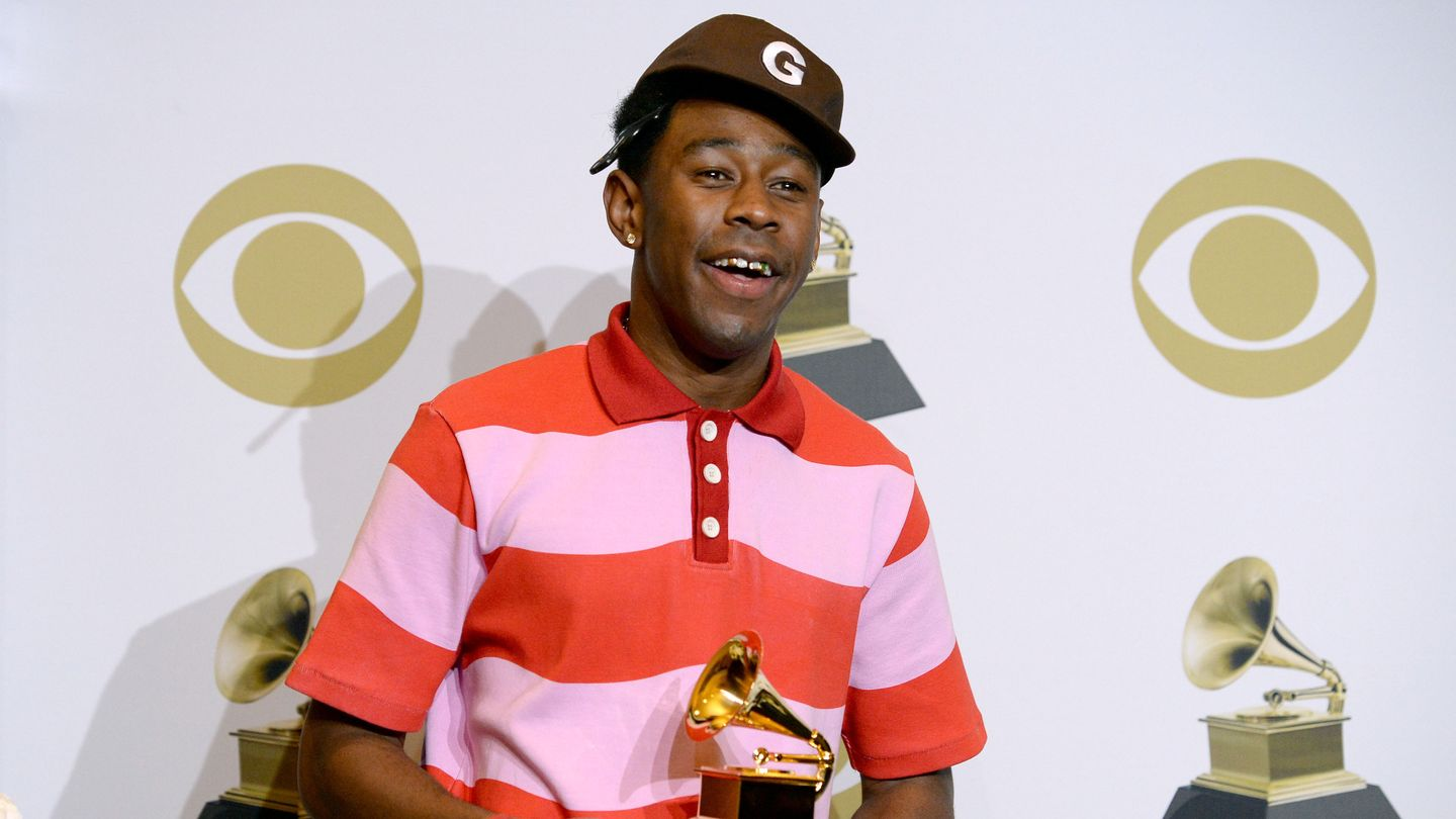 Tyler the Creator accepting his award for Best Rap Album of 2019