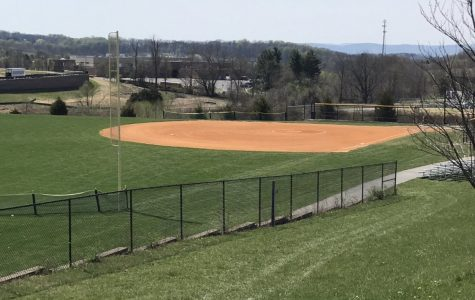 Oakdale High schools Softball field.