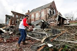 Numerous homes are destroyed after tornadoes hit Tennessee.