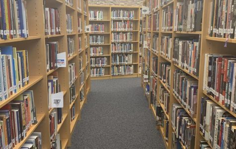 The nonfiction section of the Oakdale High School library
