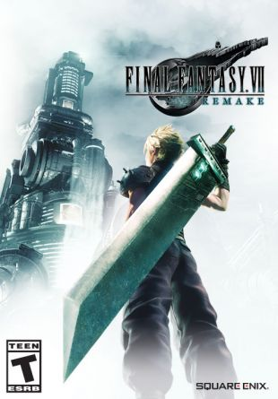 The cover of the Final Fantasy 7 remake.