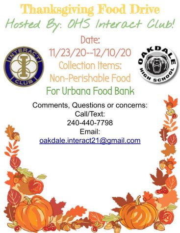The Interact club hosts a food drive for fall.