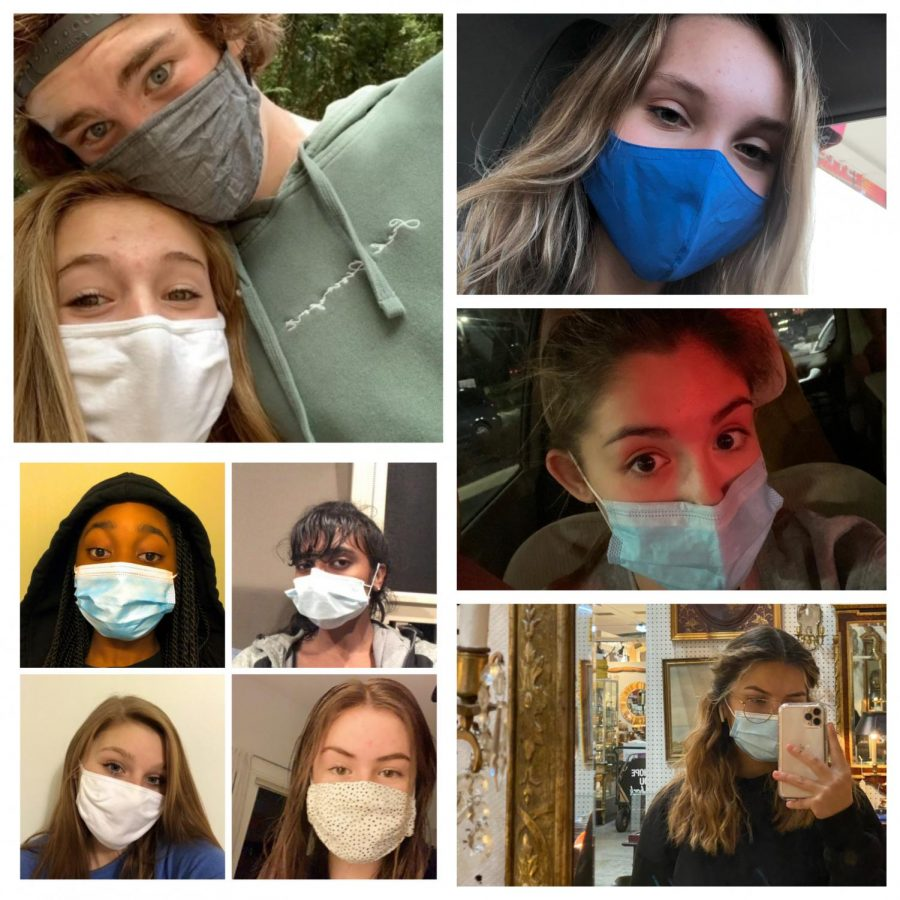 Oakdale student's wear their masks to stay safe while also sharing their unique and personal looks.