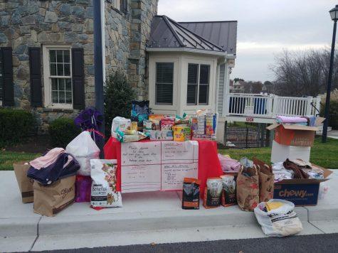In November of 2020, Oakdale Red Cross donated items they collected through their donation drive to the Frederick Animal Shelter.