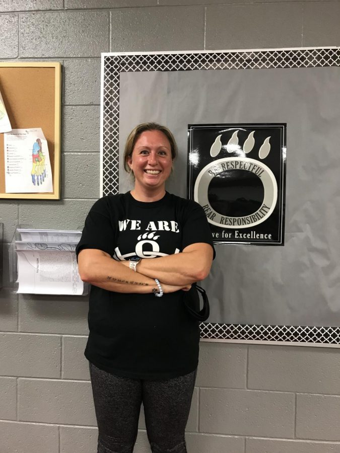 Joan James is teaching for a second year at OHS, after spending her first year as a long-term substitute.  James teaches health and sports medicine, and is the advisor for the health and wellness club.  While James is teaching here for a second year, she was the athletic trainer at OHS for 6 years.